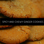 Spicy and chewy ginger cookies